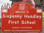 Sixpenny Handley First School school sign